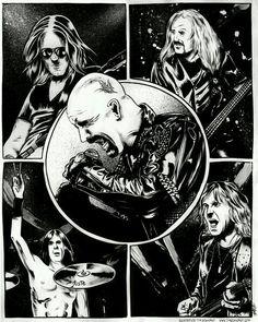Judas Priest Heavy Metal Music, Heavy Metal Bands, Judas Priest Logo, Hard Rock, Metal Health, Goth Music, Stone Temple Pilots, Laser Art, Tribute