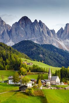 8ad687590bf1e3 The craggy spires of the Dolomites tower above Santa Maddalena in the Val  di Funes in