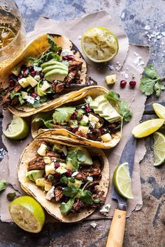 Instant Pot Spicy Pineapple Chicken Tacos #realfood #tacotuesday