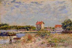 アルフレッド・シスレー 《サン=マメスのロワン河》 1885年