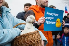 Rally against corruption. St.Petersburg Russia. by red line highway