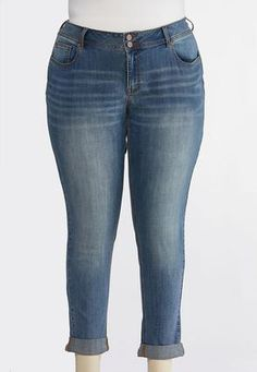 968c804e2f7e Plus Size Skinny Ankle Jeans Ankle Pants Cato Fashions