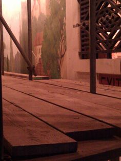 Mural and grill. Hardwood Floors, Flooring, Wells, Restoration, Cinema, Texture, Crafts, Wood Floor Tiles, Surface Finish