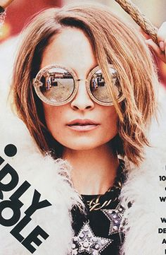 Nicole Richie in Karen Walker Eyewear Orbit Filigree #frames for ELLE Australia. Click the look on #shadesoriginators.com #nicolerichie #karenwalker #elle