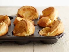 Foolproof Popovers from FoodNetwork. Perfect for the Holiday Menu. #Thanksgiving #Christmas