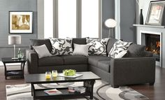 PERFECT SIZE! Brooklyn Contemporary Sectional Sofa