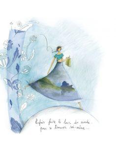 """Anne-Sophie Rutsaert carte postale """"Le tour du monde..."""""""