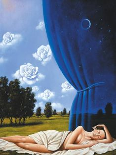"""In front of a painting, as in front of a beautiful woman, one must revel in wonder"" - Rafal Olbinski. Art Gallery, Celestial Art, Art Painting, Art Appreciation, Surreal Art, Rafal, Surrealism Painting, Universe Art, Beautiful Art"