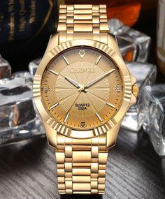 Zegarek męski CHENXI luksusowy unikalny złoty kolor warianty
