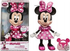 MINNIE MOUSE TALKING FASHION FIGURE DISNEY STORE FREE EXPEDITED SHIPPING   eBay