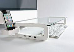 Pyramid Distribution | UBOARD SMART - USB Multiboard For iMac And iPhone (Built-In 3 Port USB 2.0 Hub)