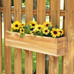 Add stylish charm to any space and a pop of yellow sunflowers with the window box planter. #jossandmain