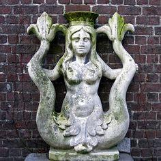 A mermaid? Rusalka, King Arthur Legend, Ancient Artefacts, Sea Serpent, Dragon King, Tanjore Painting, Plantagenet, Heaven And Hell, Arte Horror