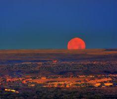 Moon over Albuquerque, NM