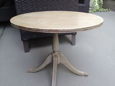 Chalk painted antique side table!