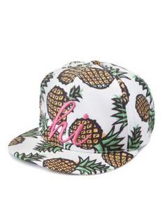 f2f18c5b4f36f Multi Hi Pineapple Print Baseball Cap by Charlotte Russe Pineapple Emoji