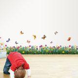 Colourful Butterflies and Grass Vinilo decorativo