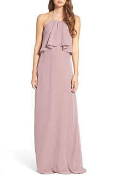 nouvelle AMSALE 'Cait' Chiffon Halter Gown available at #Nordstrom