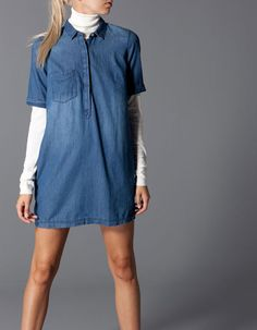 Stradivarius Denim shirt dress