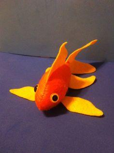 Orange and Gold Felt Fish