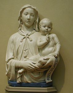 Madonna and Child by Lucca della Robbia, the Italian family of Renaissance artists