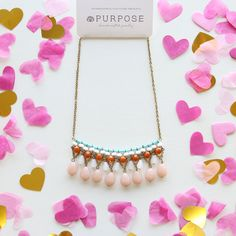 ✧ Purpose Jewelry | Dazzle on date night with the Brilliance Necklace in Blush! #datenight #style