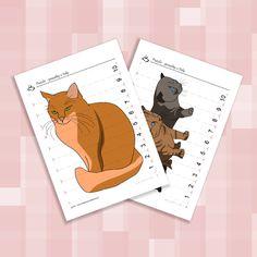 Puzzle - proužky s čísly - kočky