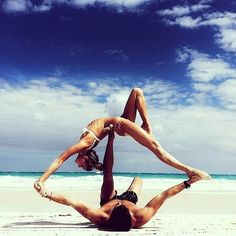Gorgeous Shots of Couples Doing Yoga to Inspire Your Day ❤ liked on Polyvore featuring couples, instagram, photos and pictures