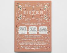 Give your sister a Christmas card she'll never forget: let her know shes going to be an aunt! // Pregnancy Reveal Christmas Card by WrittenInDetail on Etsy