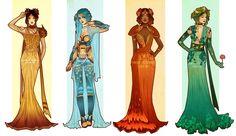 Pokemon Costume Designs: Starters by Hannah-Alexander on DeviantArt