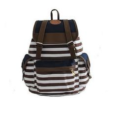 584009154d Eforstore New Unisex Canvas Backpack School Bag Vintage Stripe College  Laptop Bags Rucksack for Teens Girls Boys Students Outdoor Travel with 1 Pc  Eforstore ...