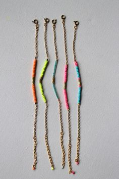 These neon chains are so on trend.