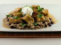 Green Chili Pork-spicy yet healthy comfort food