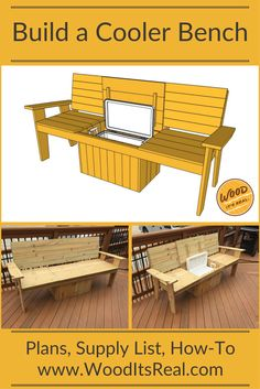 A bench. A cooler. The most amazing Cooler Bench you've ever seen. We came up with a sturdy, large, and novice-DIYer-friendly project. The cooler can be simply dropped into the bench and covered with a hinged seat.