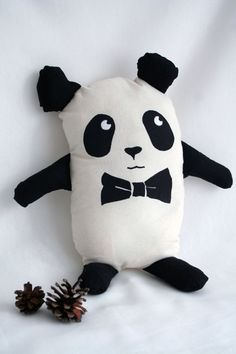 Geek Chic Panda Plush Toy with Bow Tie