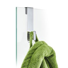 Blomus aero bath line allows you to fully accessorize your bathroom. The glass shower overdoor hook provides additional storage within the shower for Blomus towel, washcloth or robe. Towel Hooks, Towel Holder, Glass Shower Panels, Hair Dryer Holder, Plastic Design, Guest Towels, Fine Linens, Brushed Stainless Steel, Washing Clothes