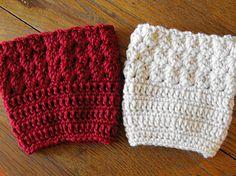 Ripple Stitch Free Boot Cuff crochet pattern by ELK Studio