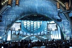 It's #Oscars season so we're throwin' it back to 2010 when we designed the #AcademyAwards set. We reprised the #Swarovski crystal curtain from our 2009 set, but added unexpected bling for an even greater theatrical effect. #tbt ©A.M.P.A.S.