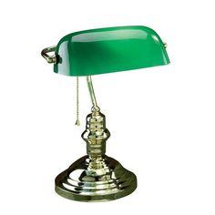 antiken schreibtisch lampe grnes glas schatten home office mbel set - Herman Miller Schreibtischsthle