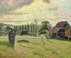 """""""La Briqueterie Delafolie à Éragny"""", 1886. Camille Pissarro"""