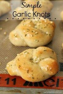 Simple Garlic Knots - homemade, buttery hot garlic knots