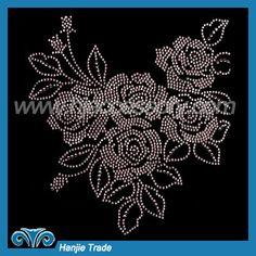 Hot-fix Rhinestone Transfers With Flower Design—Guangzhou Hanjie Trade Co.,Ltd.