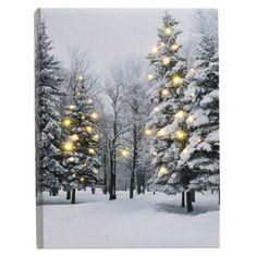 Canvastavla LED 21 x 15 cm Batteridriven, fast sken Fire Basket, Light Garland, Tis The Season, Lights, Candles, Led, Seasons, Pure Products, Outdoor