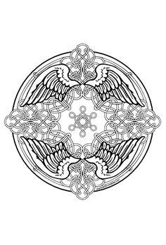 Kleurplaten Keltische Mandala.10 Beste Afbeeldingen Van Keltische Mandala Stained Glass Stained