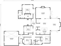Shipping container home floor plans 3 bedroom plus single house image 4 x three architectures engaging House Plans And More, Best House Plans, Modern House Plans, 3 Bedroom Floor Plan, Log Home Floor Plans, New Zealand Houses, Shipping Container House Plans, Container Cabin, Minimal Home