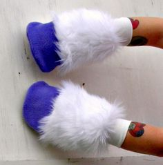 "Rarity inspired ""glove"" hooves for Alexis' unicorn party costume"