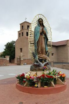 Our Lady of Gudalupe Shrine in Santa Fe, New Mexico.