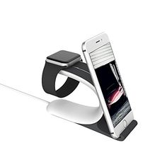 LOCA Mobius 2-in-1 Apple Watch Smart Watch Charging Docks, Charging Stand Holder for All iWatch & iPhone & iPad Edition  (Grey) * Read more  at the image link.