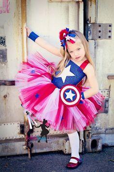 Captain+America+girls+inspired++tutu+dress+by+SofiasCoutureDesigns,+$69.00