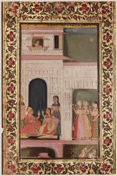 Dipaka Raga. Opaque watercolor and gold on paper, Jaipur, Rajasthan, Northern India, mid-18th century, later border